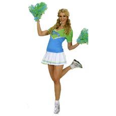 Costume Cheerleader Azzurro